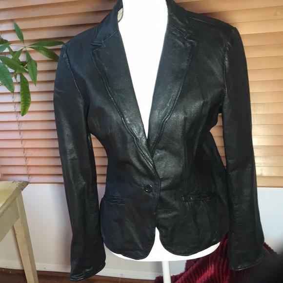 Jakett NY Jackets & Blazers - Jakett New York Leather Blazer